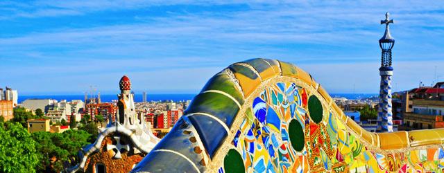 Parc Güell et toits de Barcelone