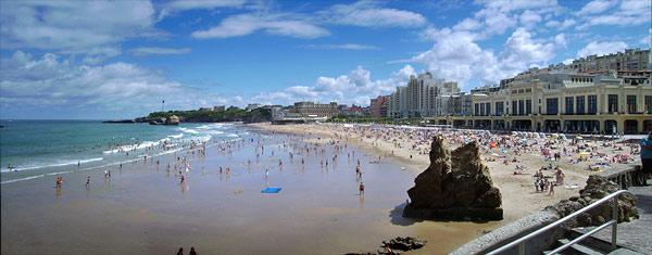 Vue de la Grande Plage de Biarritz