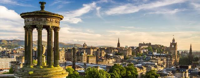 Vue panoramique d'Edimbourg