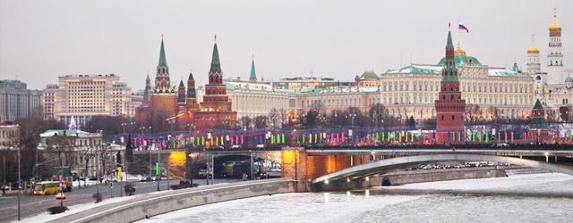 Vue du Kremlin en hiver
