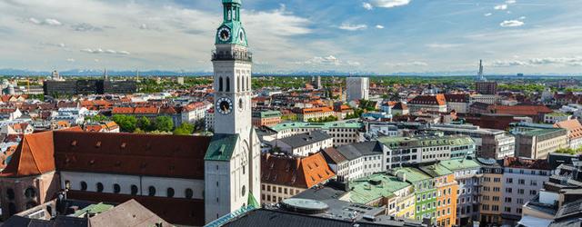 Vue de la cathédrale Notre-Dame de Munich