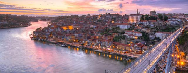 Vue aérienne de Porto et du Douro
