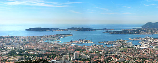 Photo de la rade de Toulon