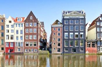 Vue des canaux d'Amsterdam