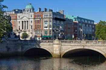 Vue de la vieille ville de Dublin